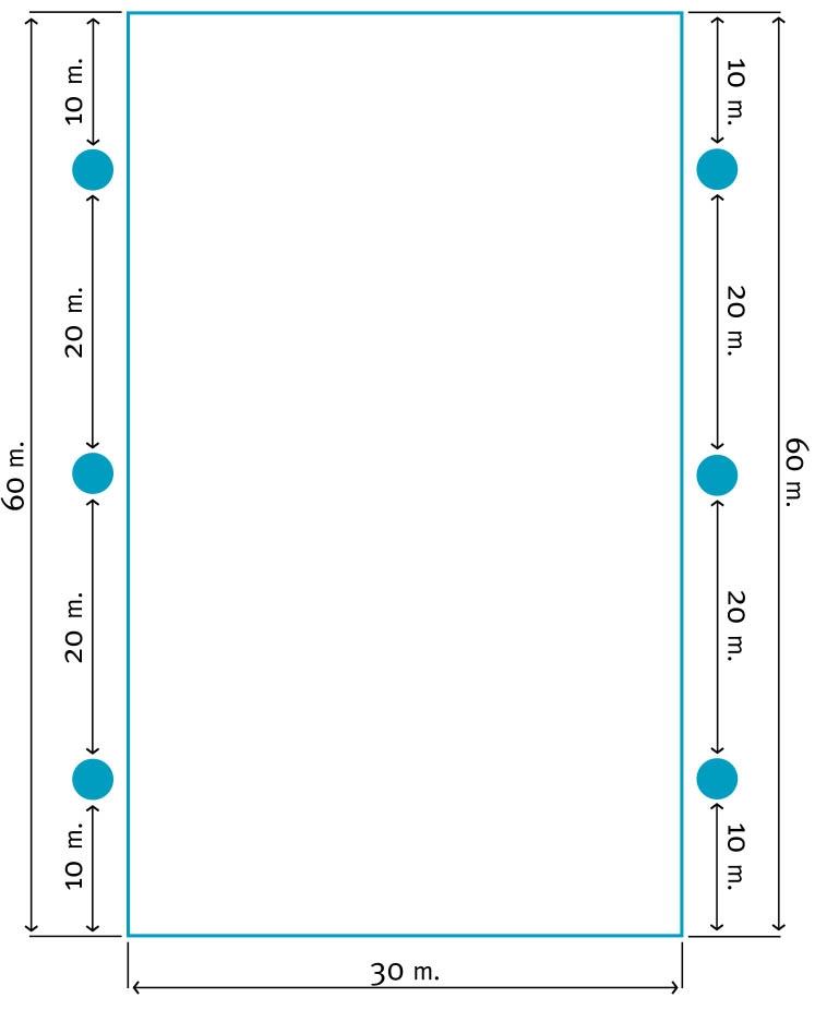30x60 Lichtplan B | Segers Paardensport