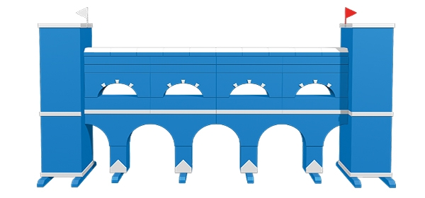 Muren - Mauern Viaduct Blue