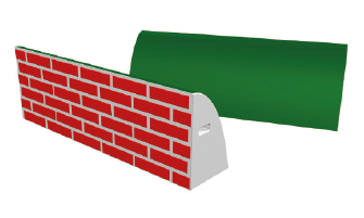 Onderzetstukken planken hekken muur onderzetstuk   Segers Paardensport